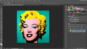 Taller de Photoshop. Selecciones con modos de fusión y realización efecto Warh